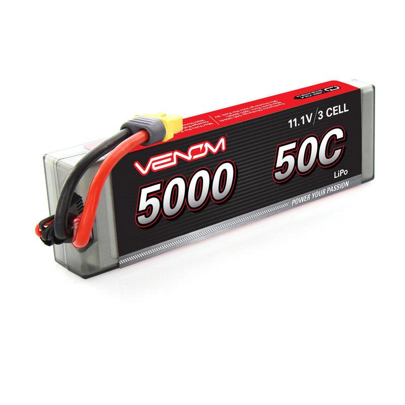 11.1V 5000mAh 3S 50C DRIVE Hardcase LiPo Battery: UNI 2.0 Plug