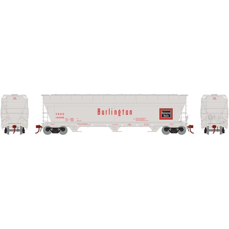 N ACF 4600 3-Bay Centerflow Hopper CB&Q #CBQ184586