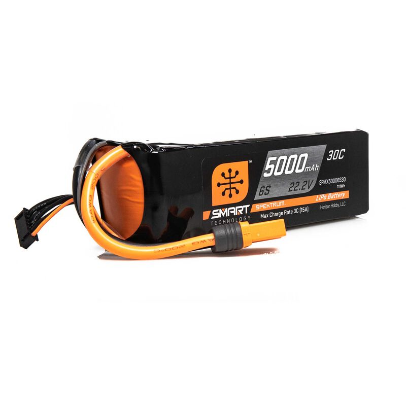 22.2V 5000mAh 6S 30C Smart LiPo Battery: IC5