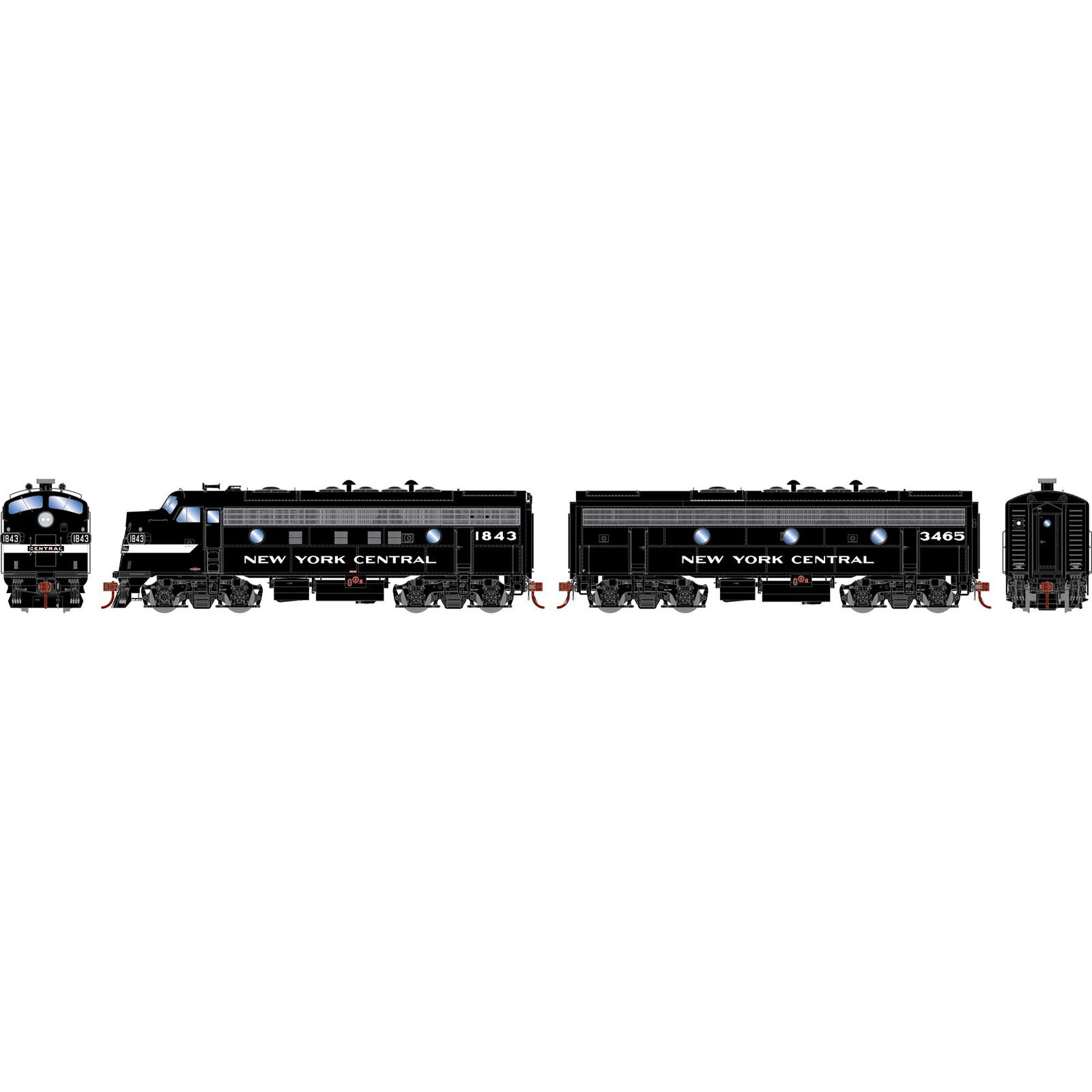HO F7A F7B with DCC & Sound NYC Freight #1843 #3465