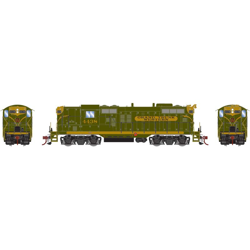 HO GP9 with DCC & Sound GTW, Green/Gold #4438