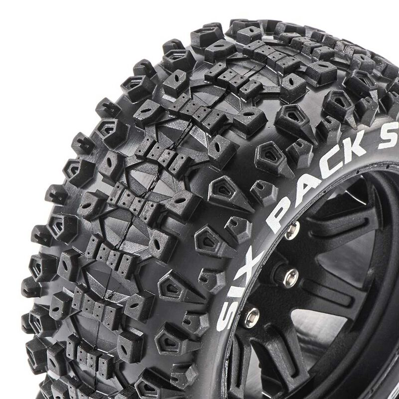 Six-Pack ST 2.8 Mounted Tires, Black 14mm Hex (2)