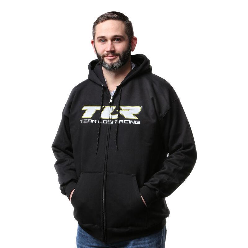 Zip Black Hoodie, Medium