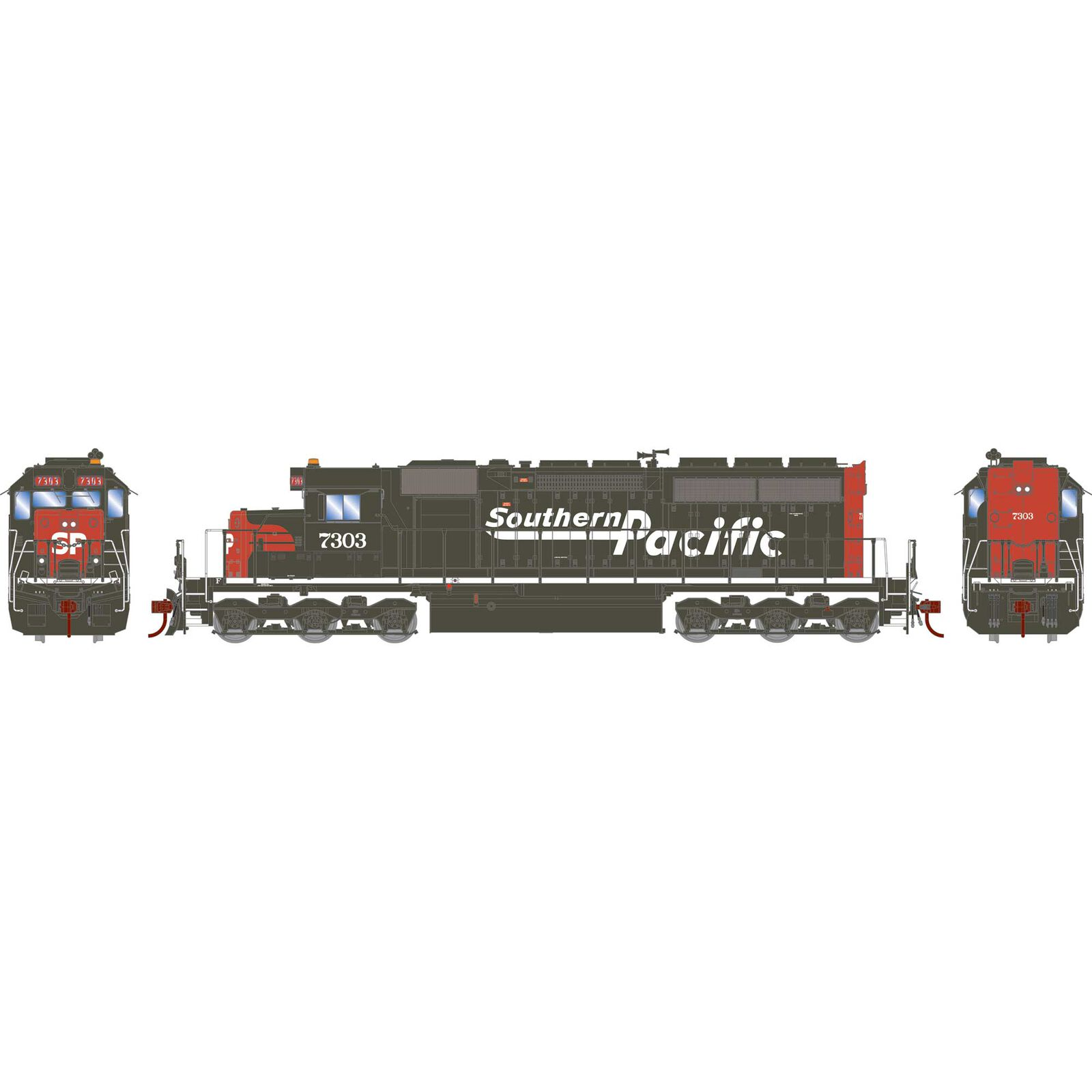 HO RTR SD40R with DCC & Sound, SP #7303