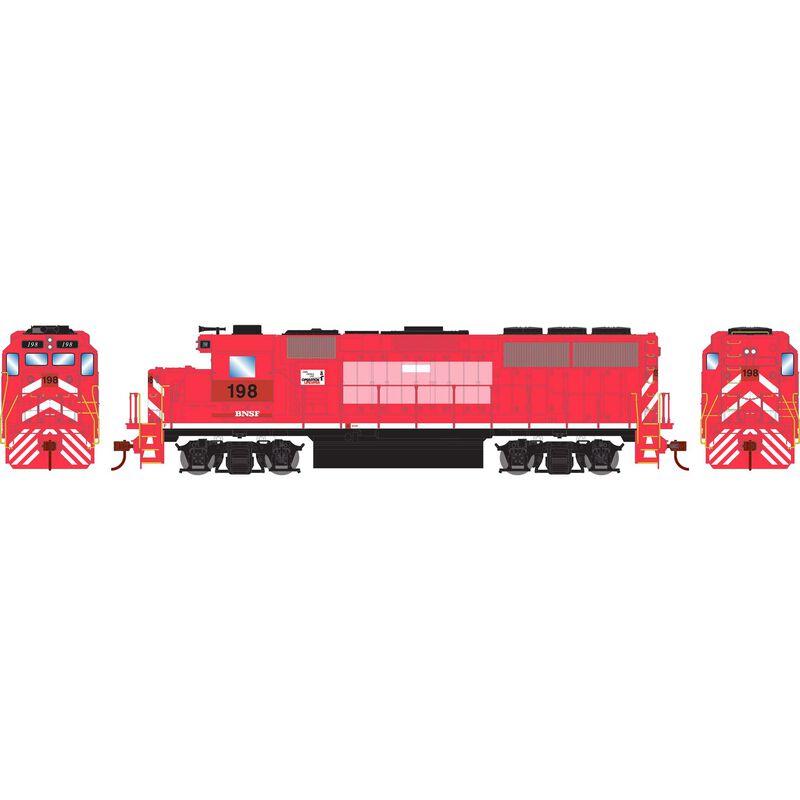 HO GP60 w DCC Decoder BNSF #198