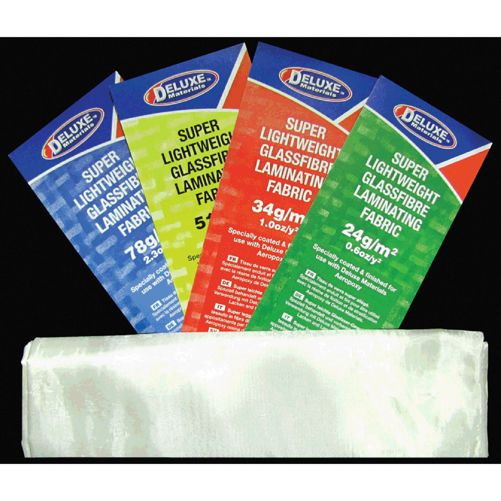 Lightweight Fibreglass Cloth, 2.0 oz, 1 Sq Meter, White