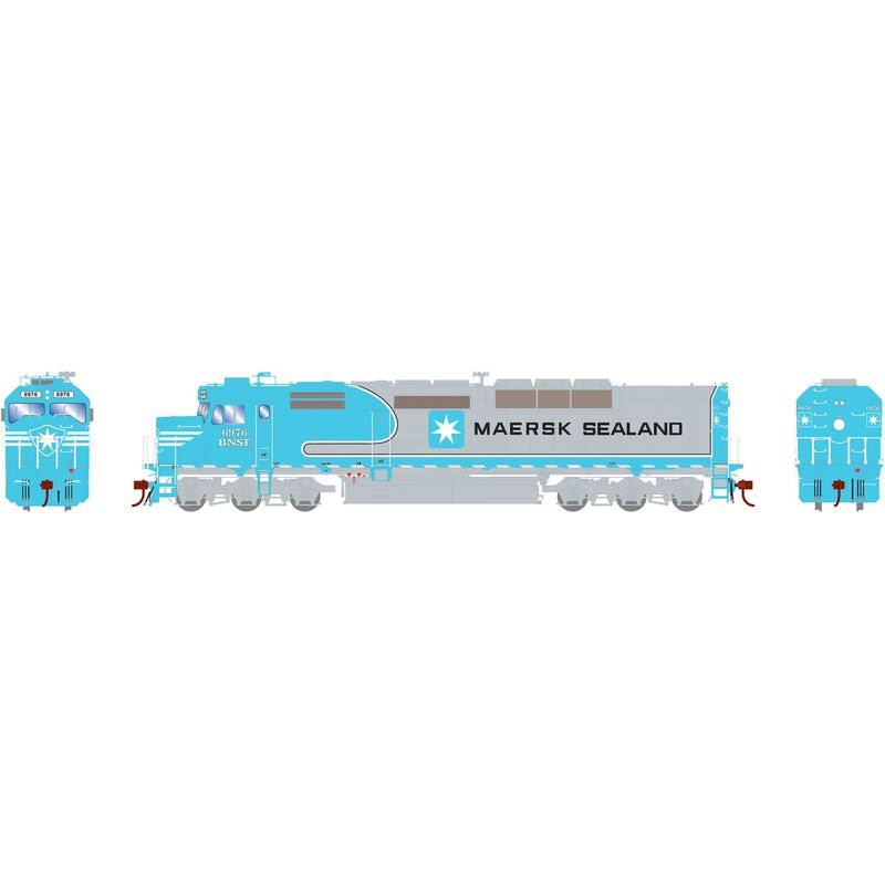 HO SDP40F with DCC & Sound BNSF #6976