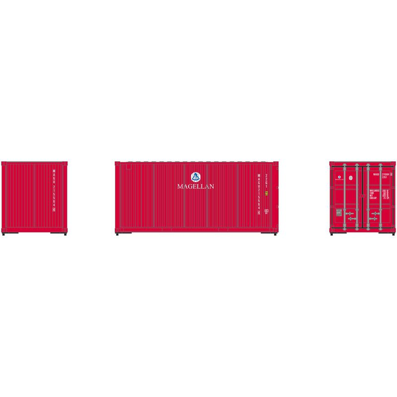HO RTR 20' Corrugated Container MAGU (3)