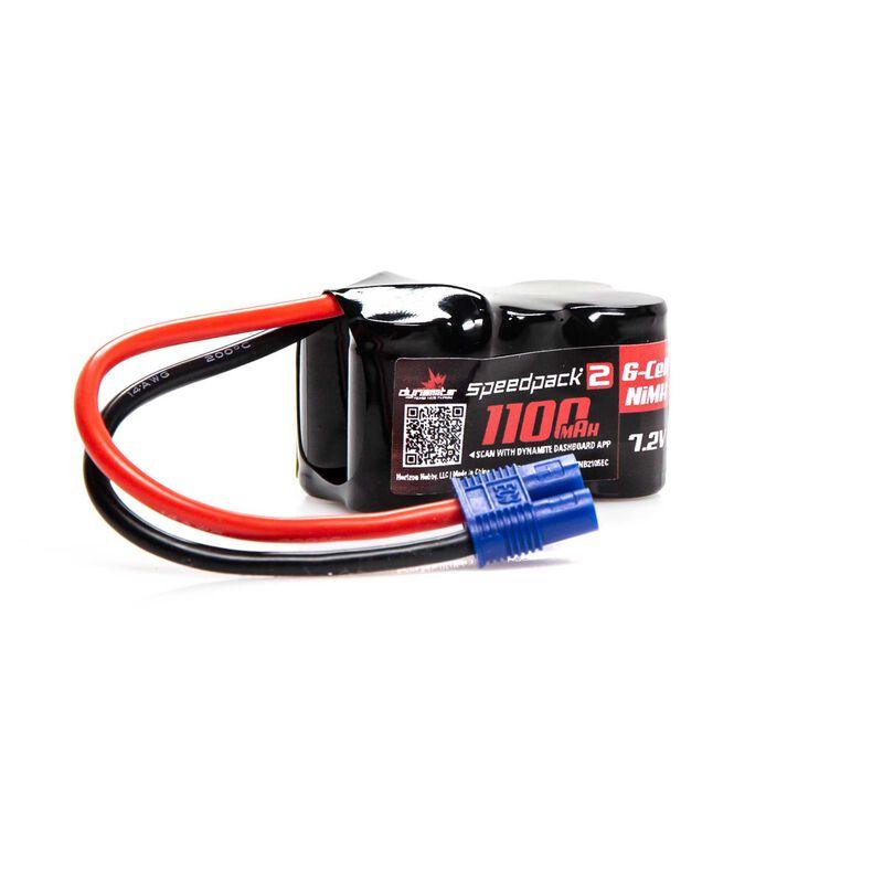 Speedpack2 7.2V 1100mAh 6C NiMH, 3+3, EC3