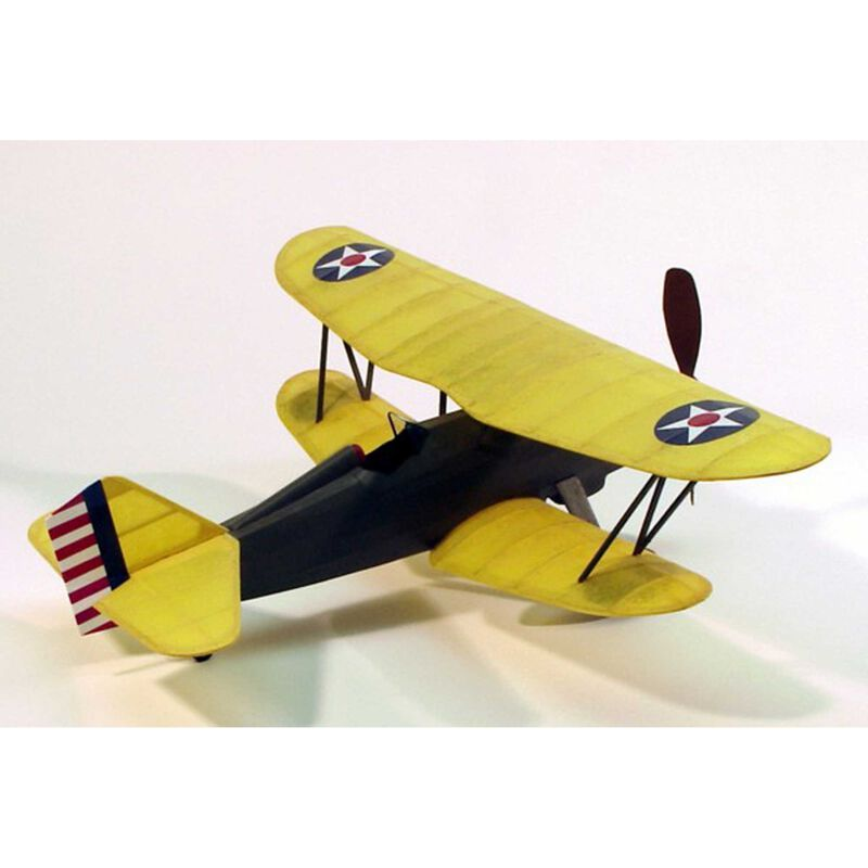 Curtiss P6E Hawk Rubber Powered Kit, 17.5""