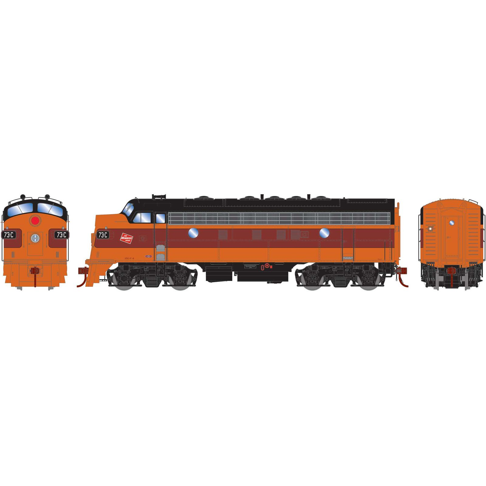 HO F7A with DCC & Sound MILW #73C