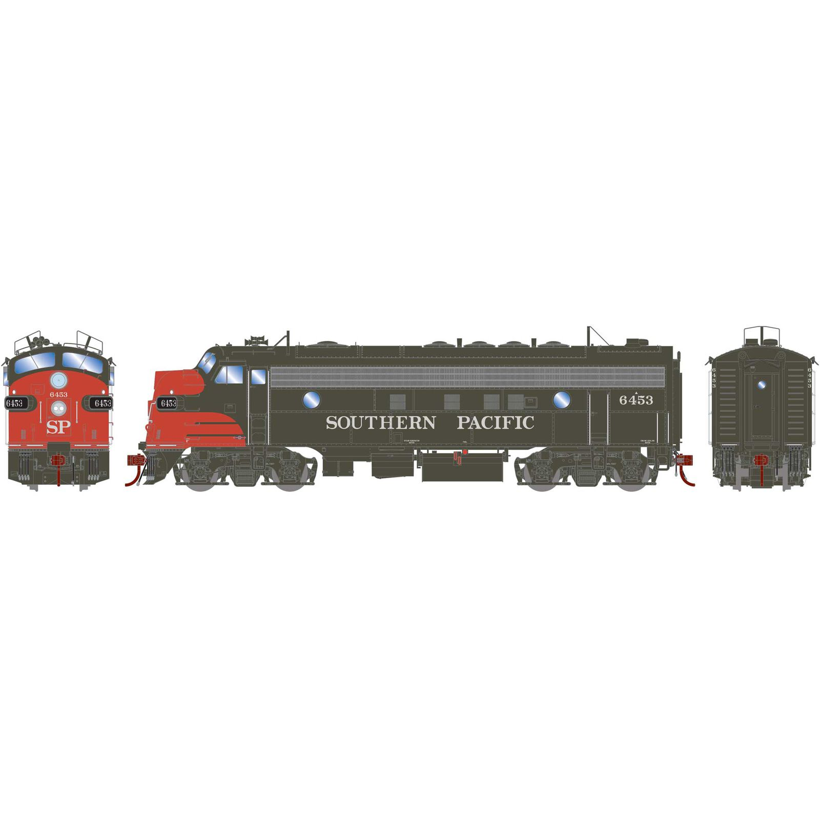 HO FP7A FP7A with DCC & Sound SP Bloody Nose#6453 6461