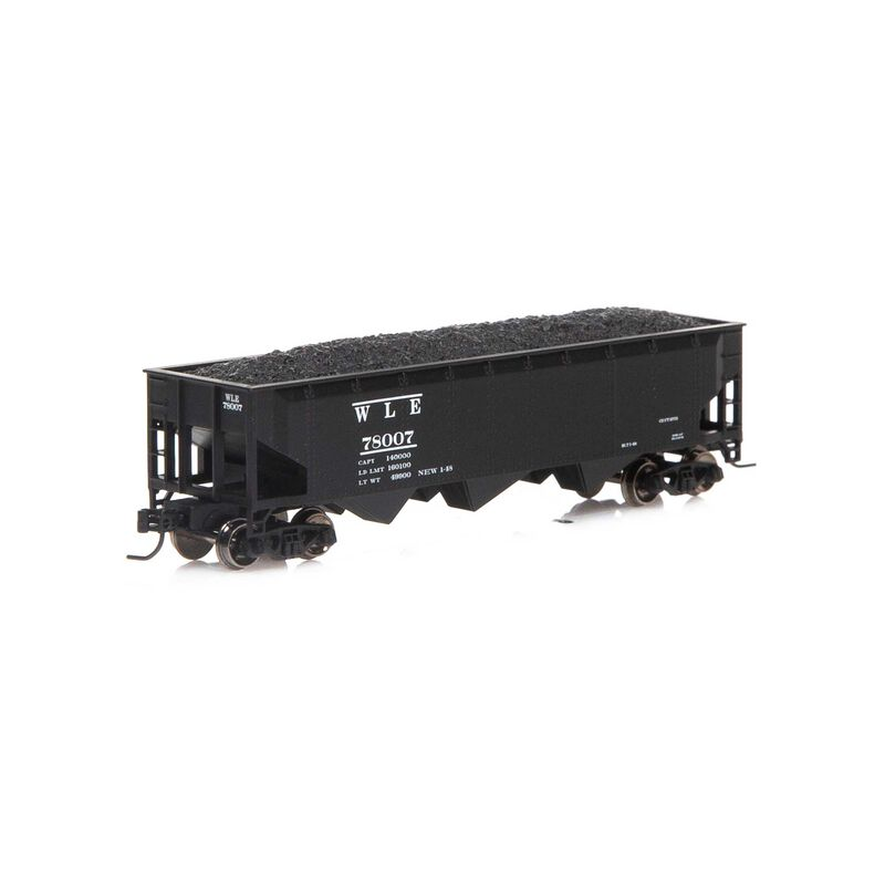 N 40' 3-Bay Offset Hopper with Load W&LE #78007
