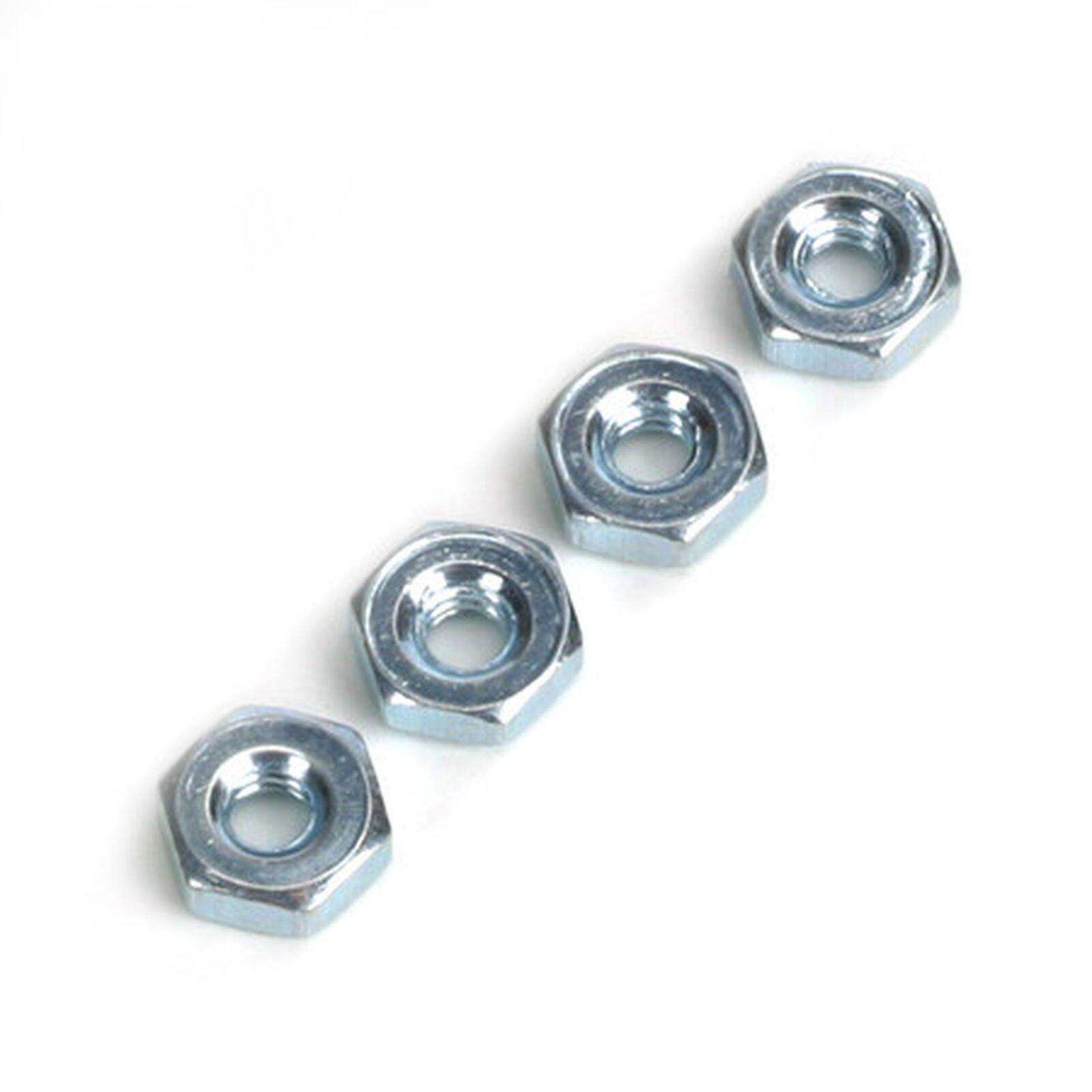 Steel Hex Nuts, 4-40