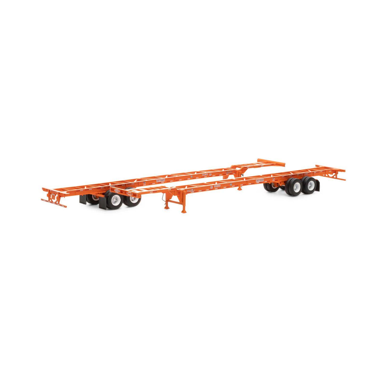 HO RTR 53' Chassis, BNSF/Circle Cross (2)