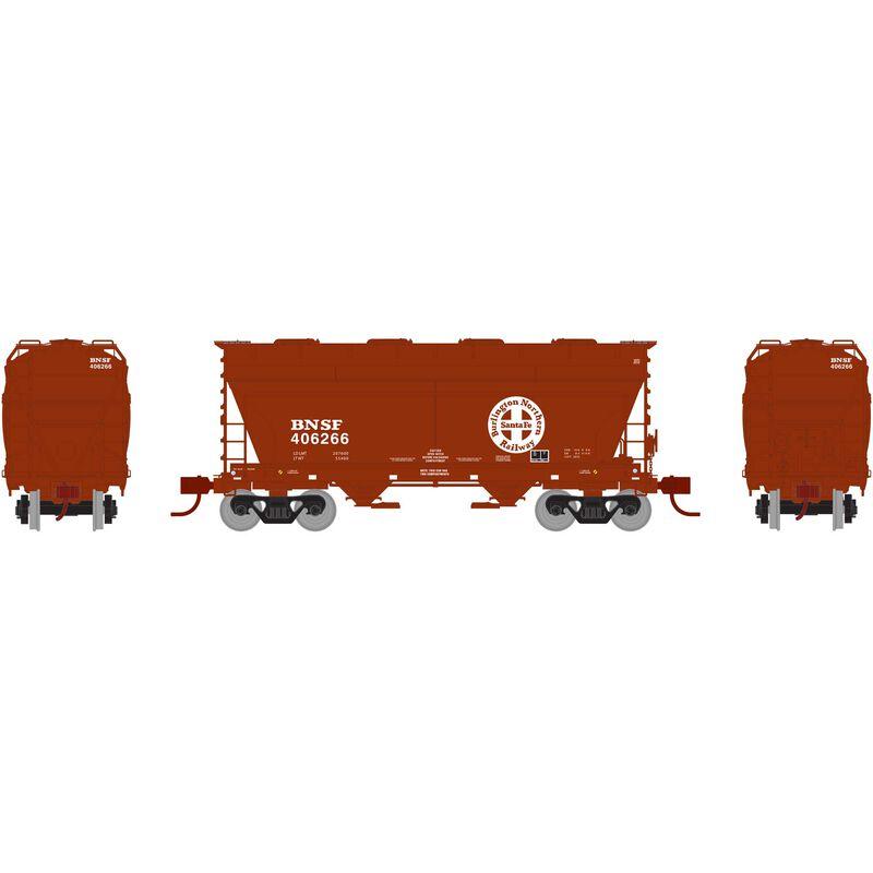 N ACF 2970 Covered Hopper, BNSF Brown #406266