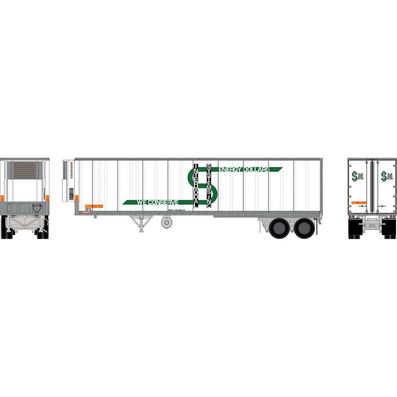 HO RTR 40' Fruehauf Z-Van Trailer, IMSZ #470244