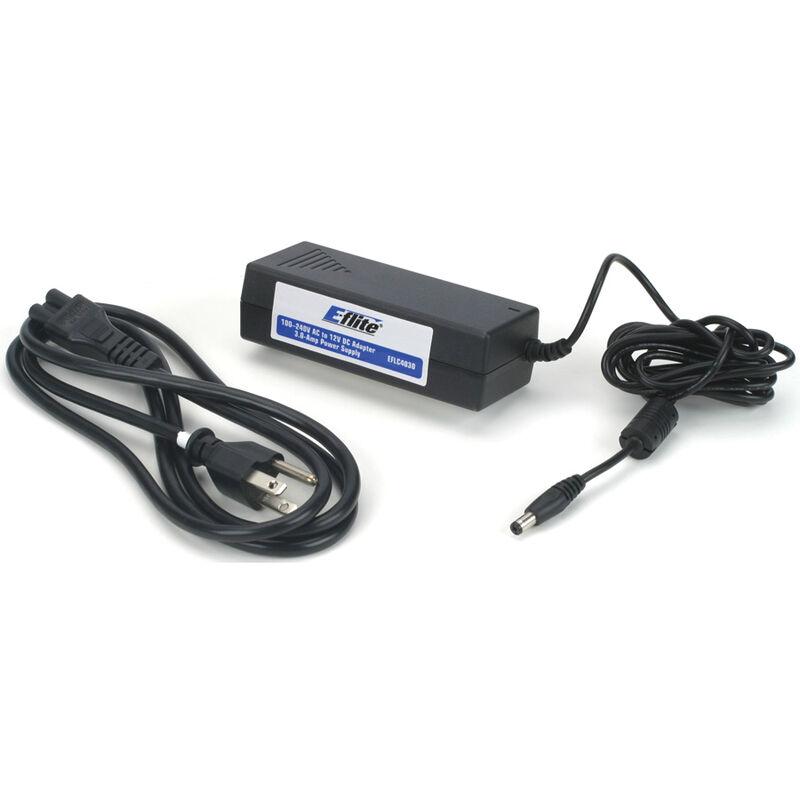 3.0-Amp Power Supply, 100-240V AC-12V DC