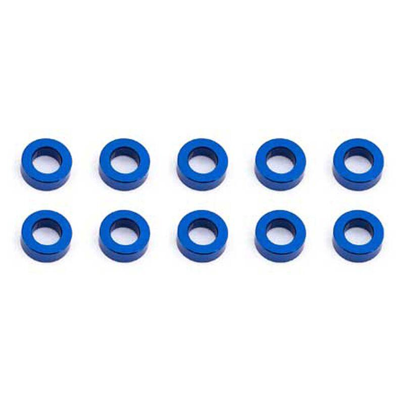 Ballstud Washers, 5.5x2mm, Blue Aluminum (10)