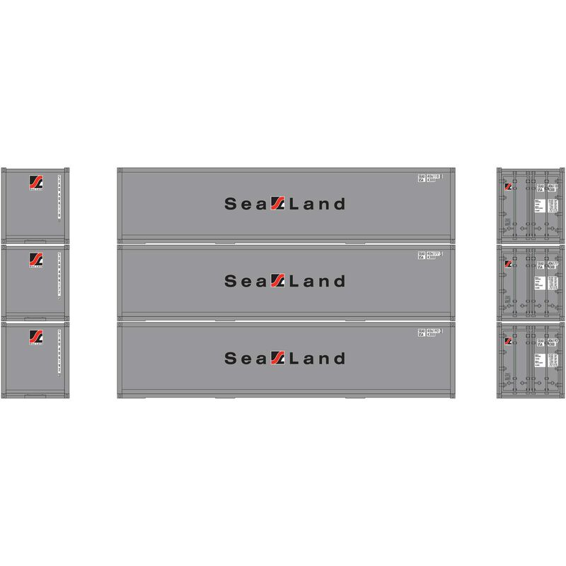 HO RTR 40' Smooth Side Container Sealand (3)