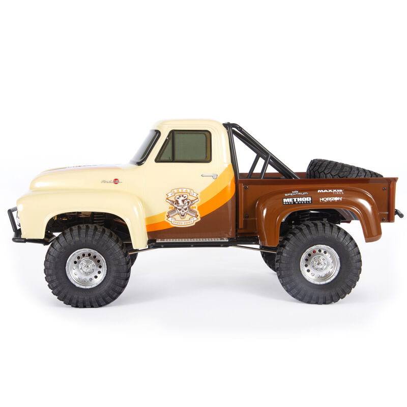 1/10 SCX10 II 1955 Ford F-100 4WD Truck Brushed RTR, Brown