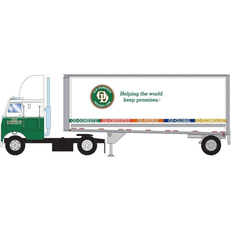 HO RTR FL-2 Axle with 28' Trailer Old Dominion