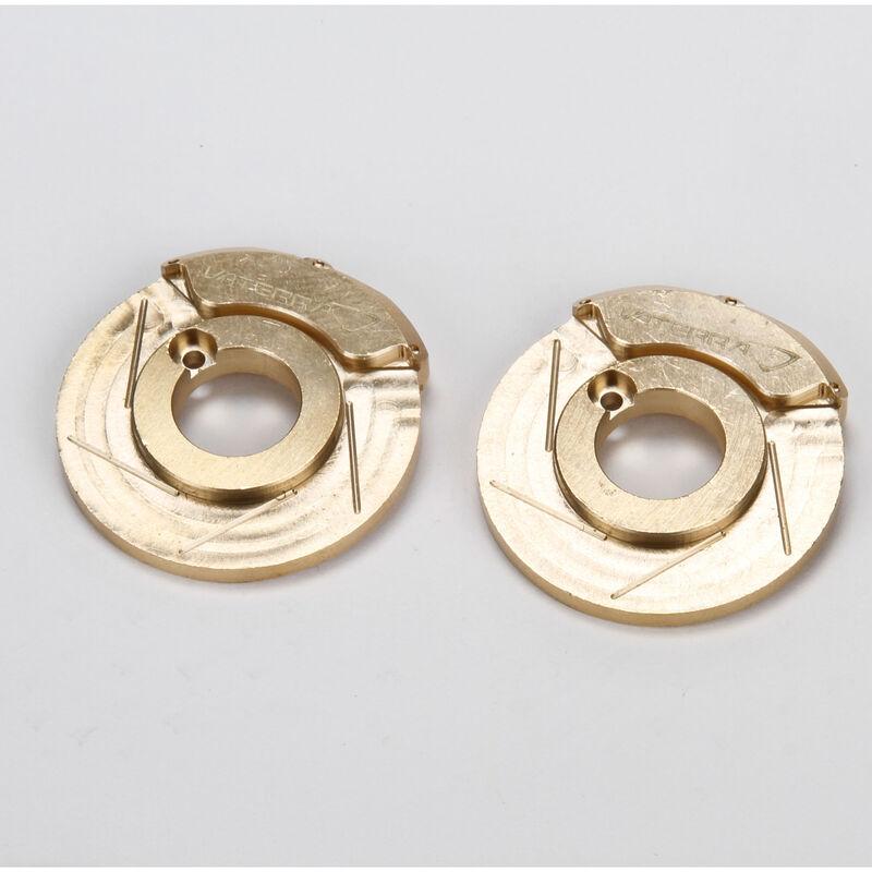 Brake Caliper/Rotor Weight, Brass; (2), ASN
