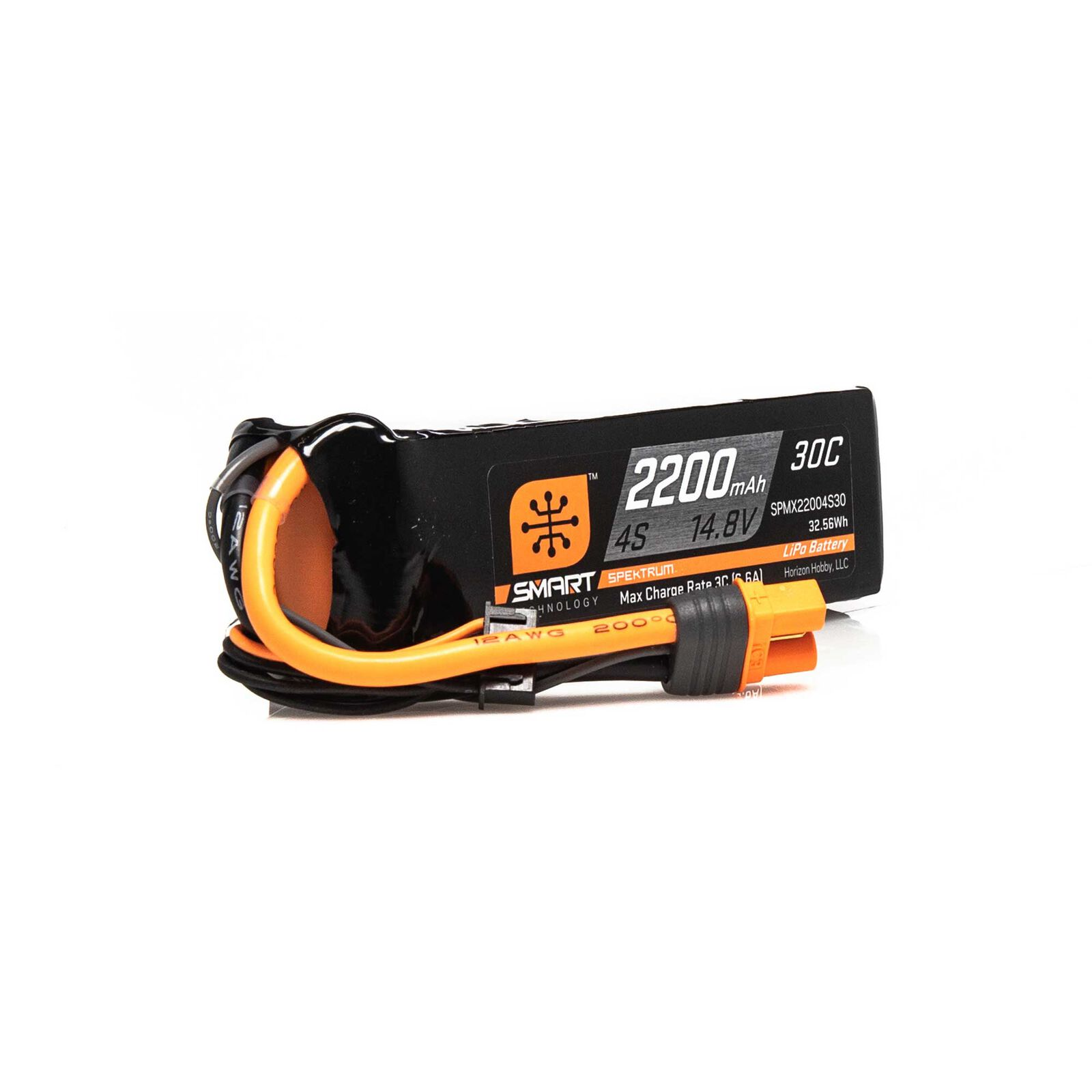 14.8V 2200mAh 4S 30C Smart LiPo Battery: IC3