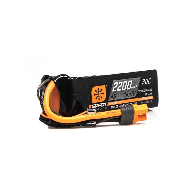 14.8V 2200mAh 4S 30C Smart LiPo Battery: IC3