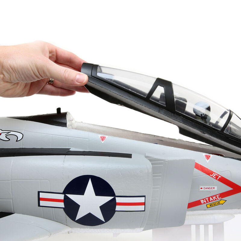 F-4 Phantom II 80mm EDF BNF Basic with AS3X and SAFE Select, 910mm