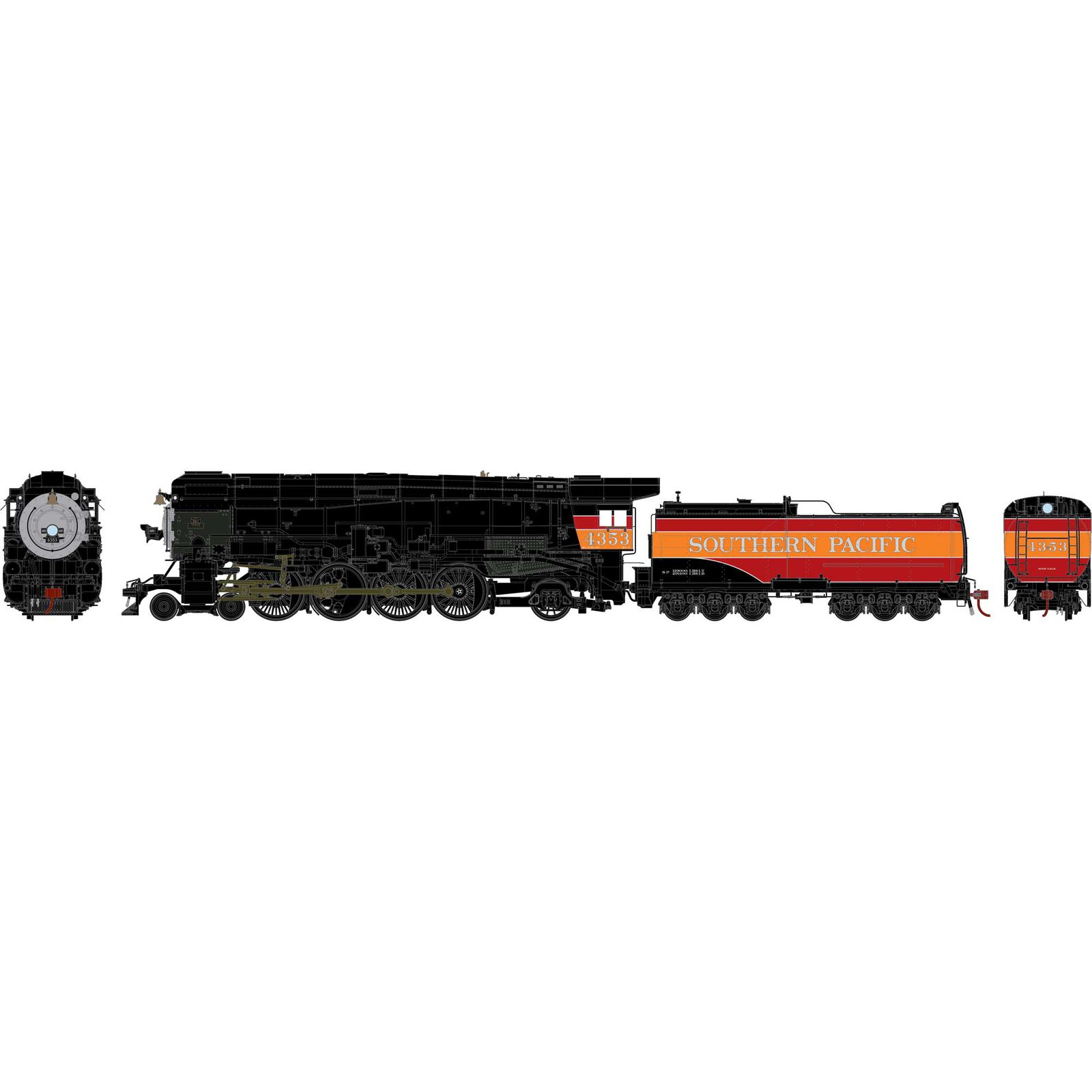HO 4-8-2 MT-4 with DCC and Sound, SP/Daylight #4353