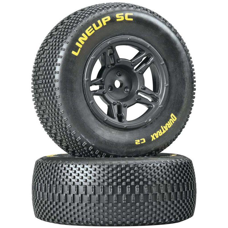 1/10 Lineup SC Tire C2 Mounted Rear: Slash (2)