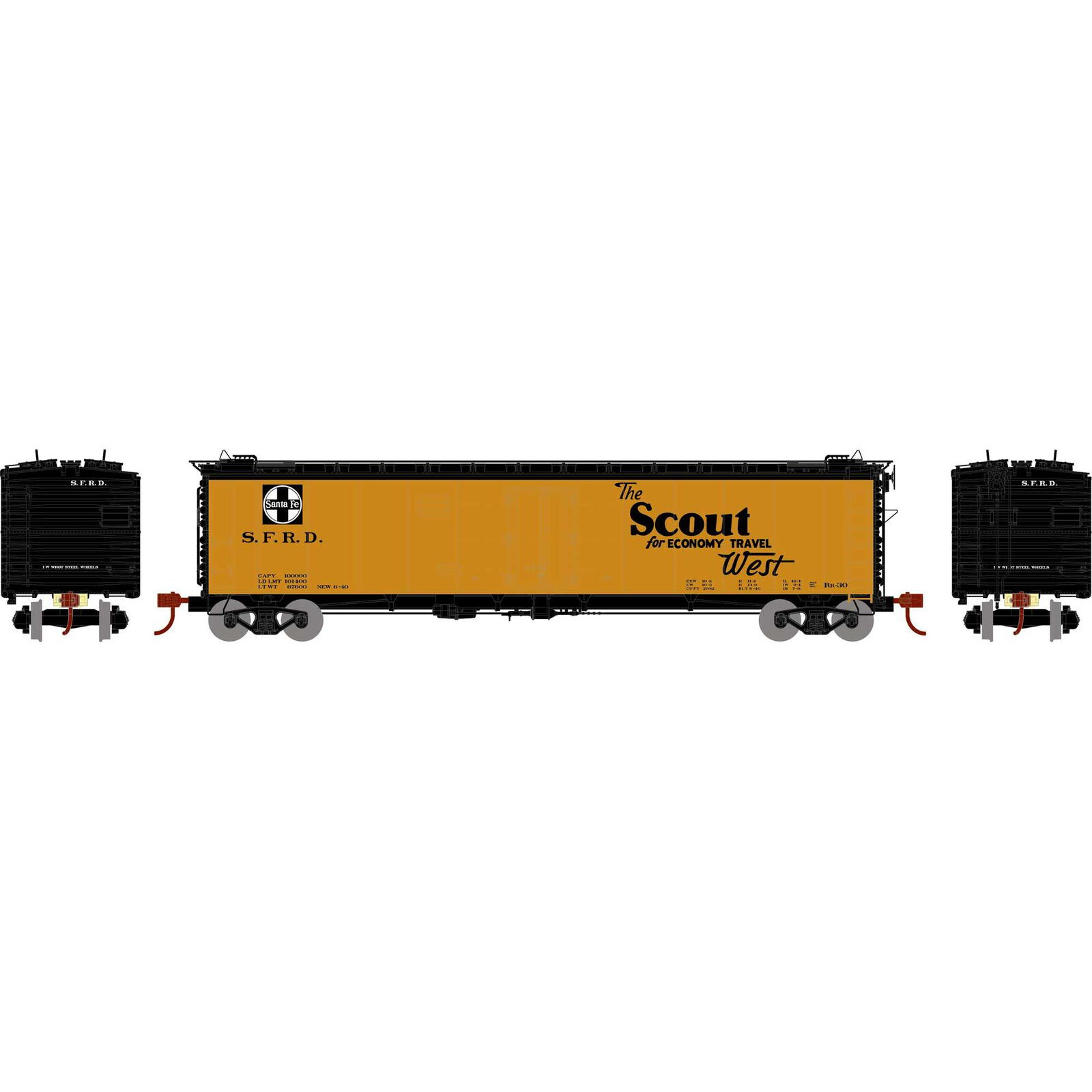 N 50' Ice Bunker Reefer SF The Scout No Number