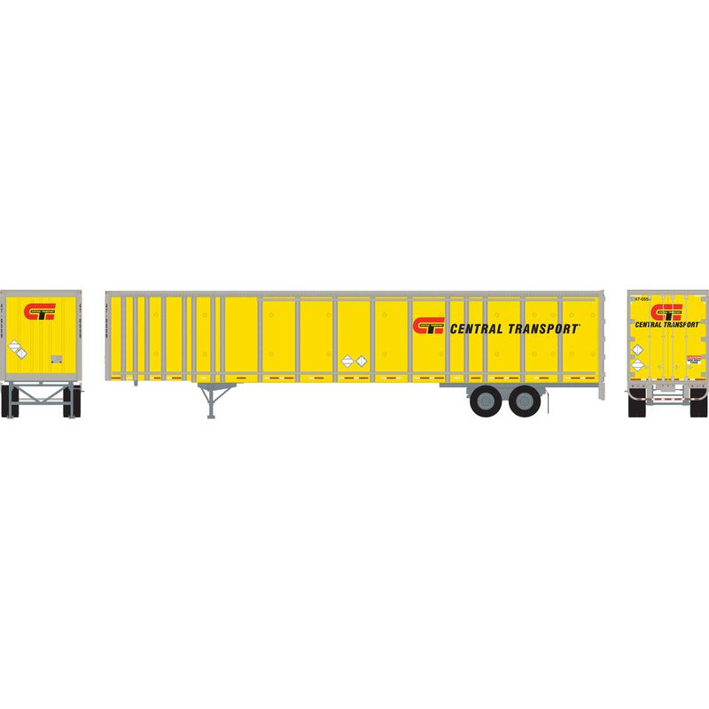 HO RTR 53'Wabash Plate Trailer Central Transport#1