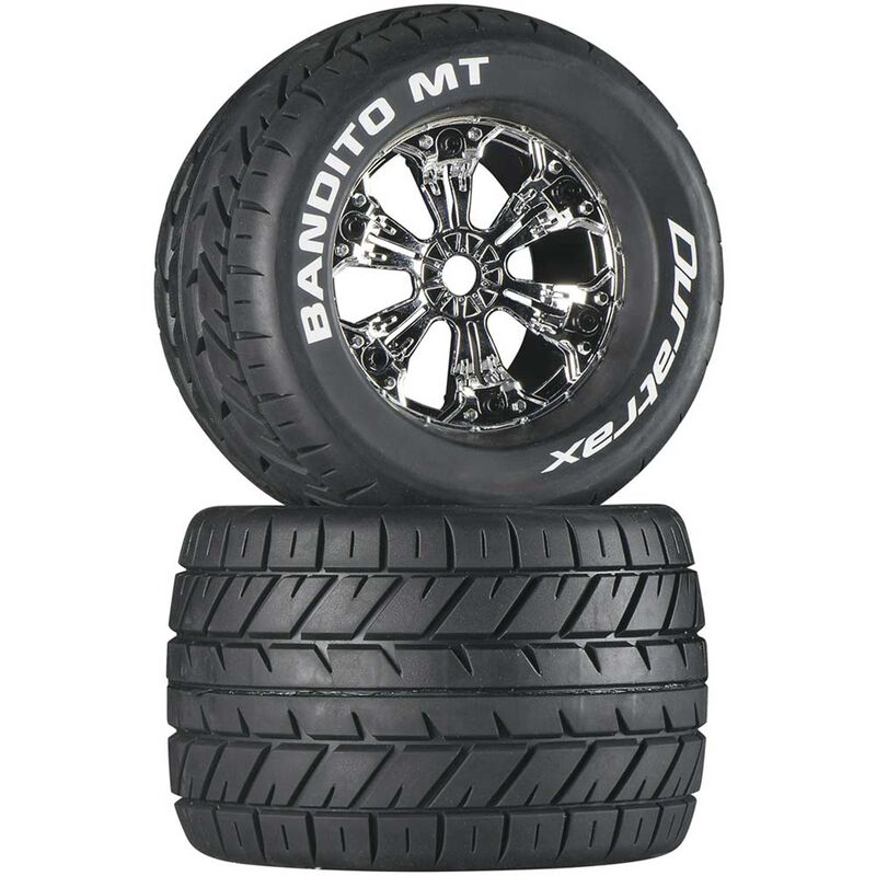 "Bandito MT 3.8"" Mounted Tires, Chrome (2)"