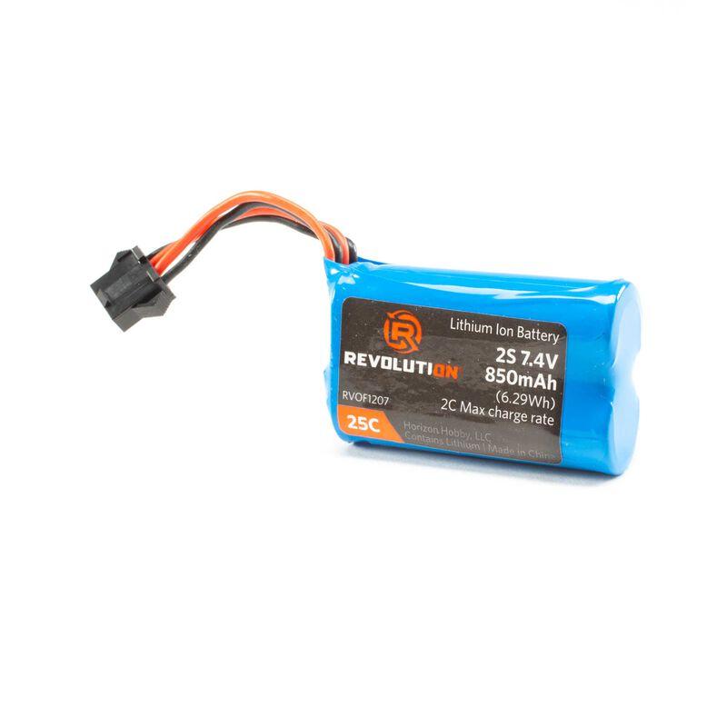 7.4v 850mAh Li-Ion battery: Ascent SPX