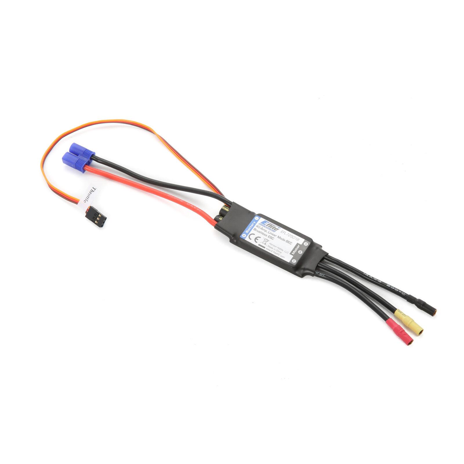 40-Amp Linear Mode BEC Brushless ESC: EC3