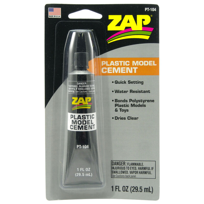 Plastic Model Cement, 1 oz, Carded