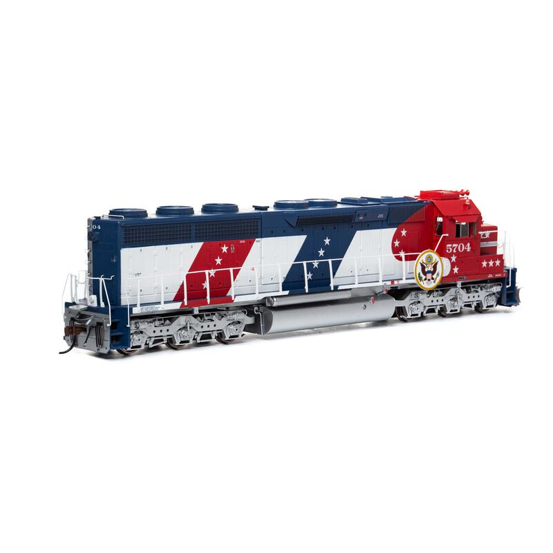 HO SD45-2 with DCC & Sound SF Bicentennial #5704