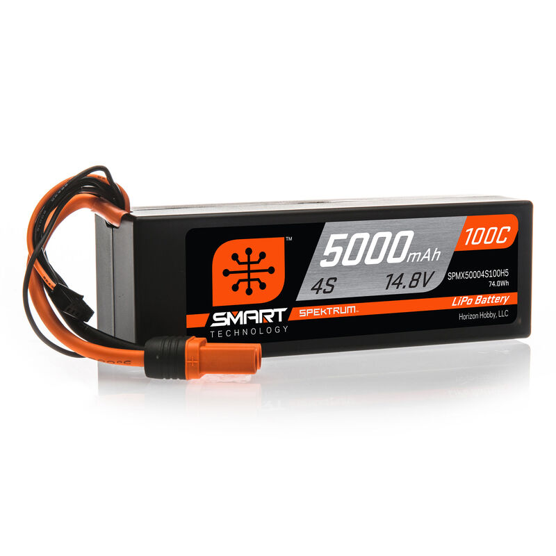 14.8V 5000mAh 4S 100C Smart Hardcase LiPo Battery: IC5
