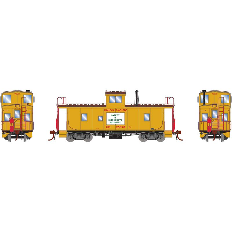 HO CA-8 Early Caboose with Lights UP #25578