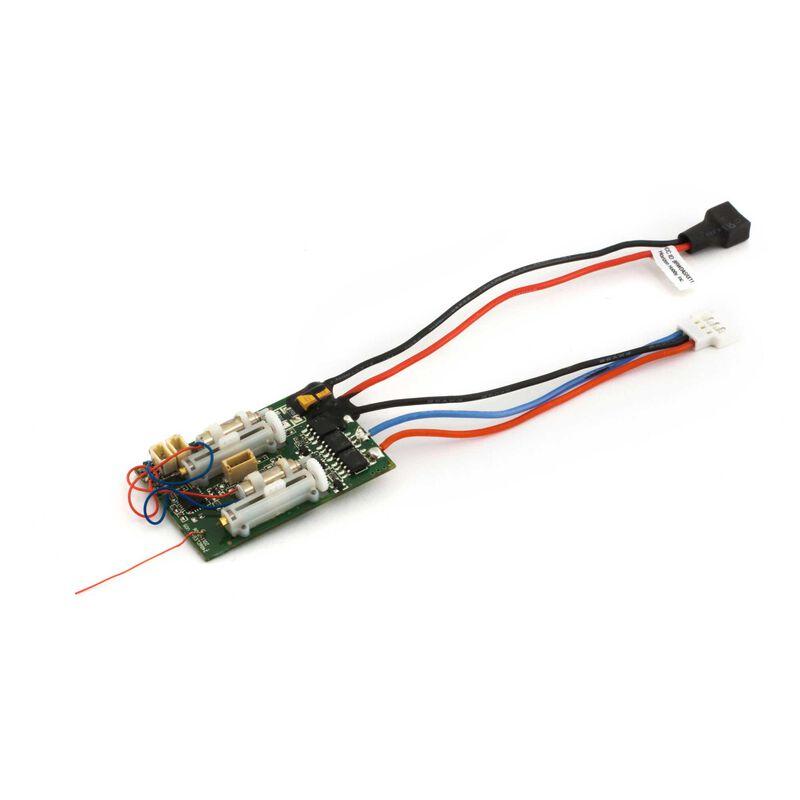DSM2 6 Ch Ultra Micro AS3X Receiver BL ESC
