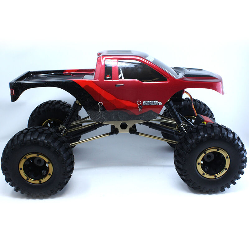 Everest-10 1/10 Rock Crawler Brushed RTR, Red/Black