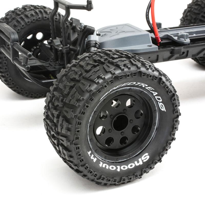 1/10 Ruckus 2WD Monster Truck Brushed with LiPo RTR, Black/Orange