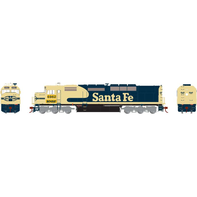 HO SDP40F with DCC & Sound BNSF #6962