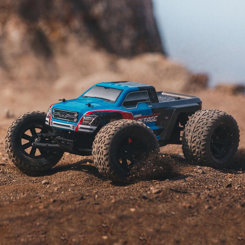 1/10 Granite Voltage 2WD Brushed Mega Monster Truck RTR, Blue/Black