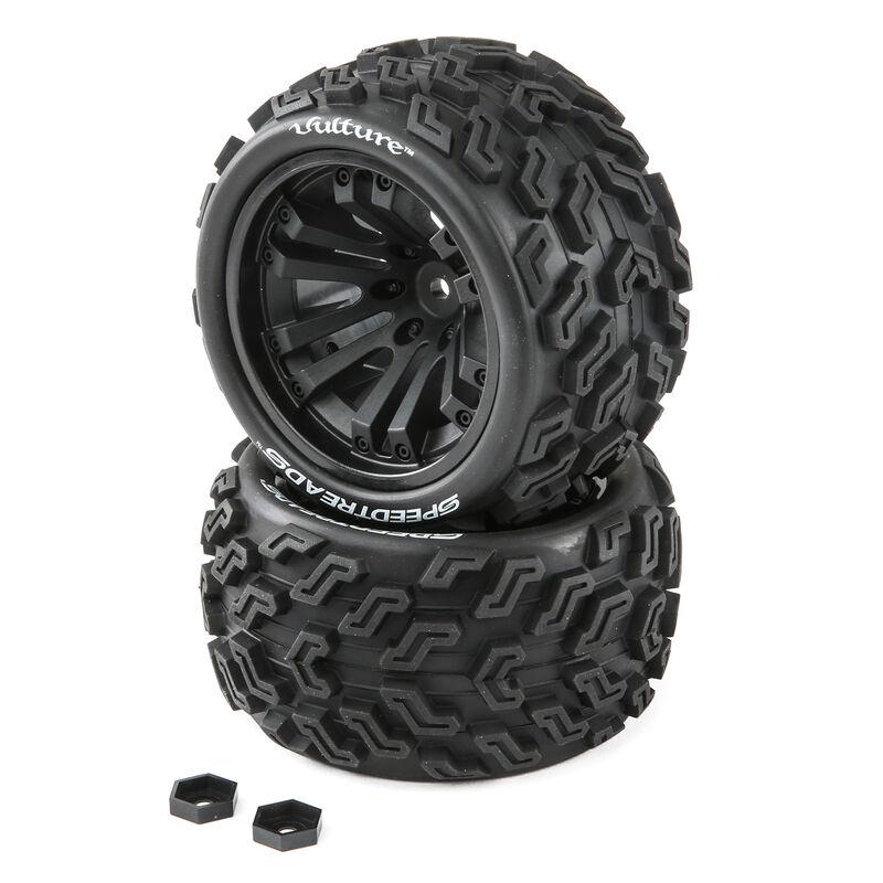 SpeedTreads Vulture Tires Mounted (2):  1/10 Stadium/Monster Truck