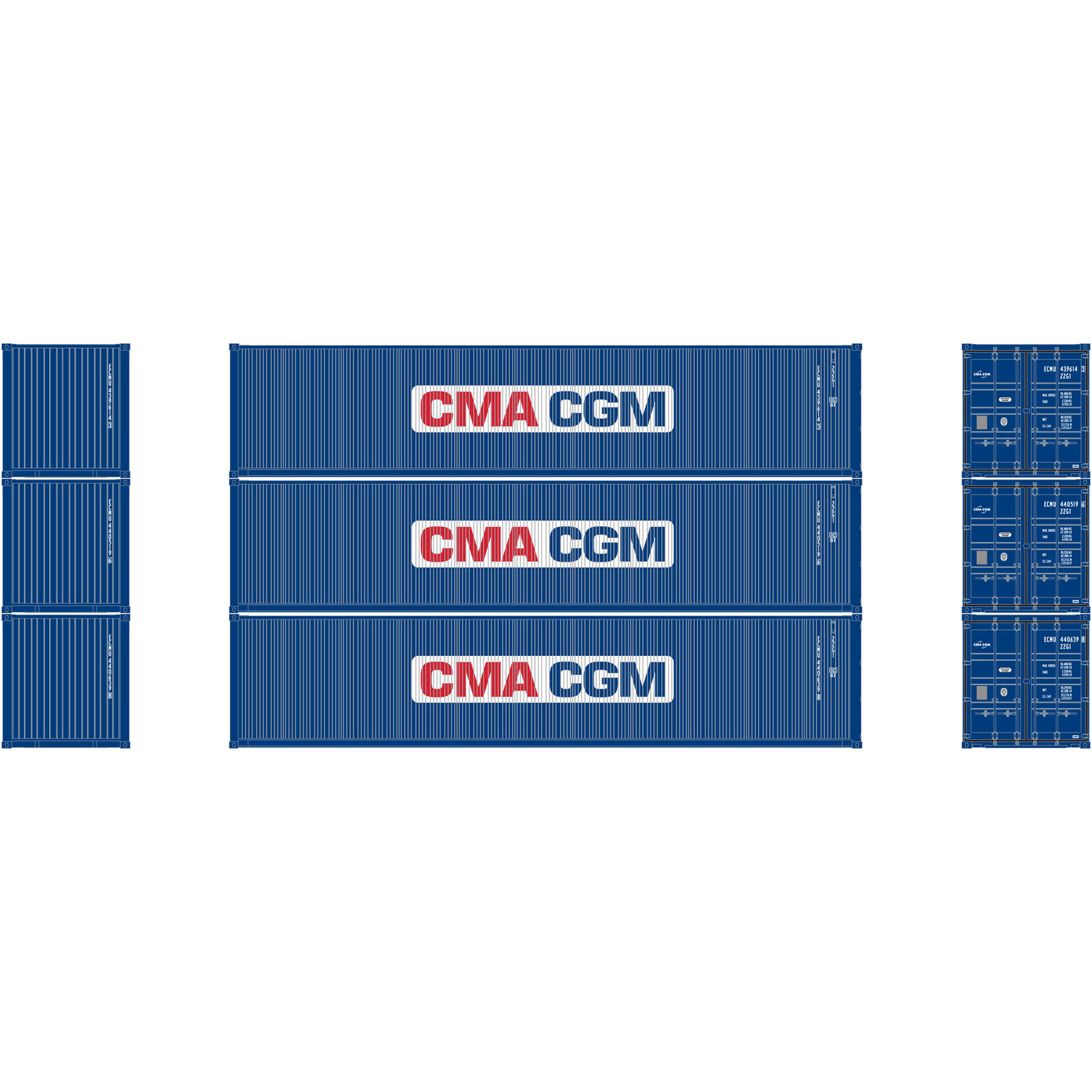 HO RTR 40' Low-Cube Container CMA-CGM