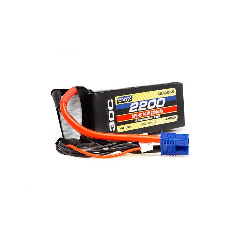 14.8V 2200mAh 4S 30C LiPo Battery: EC3