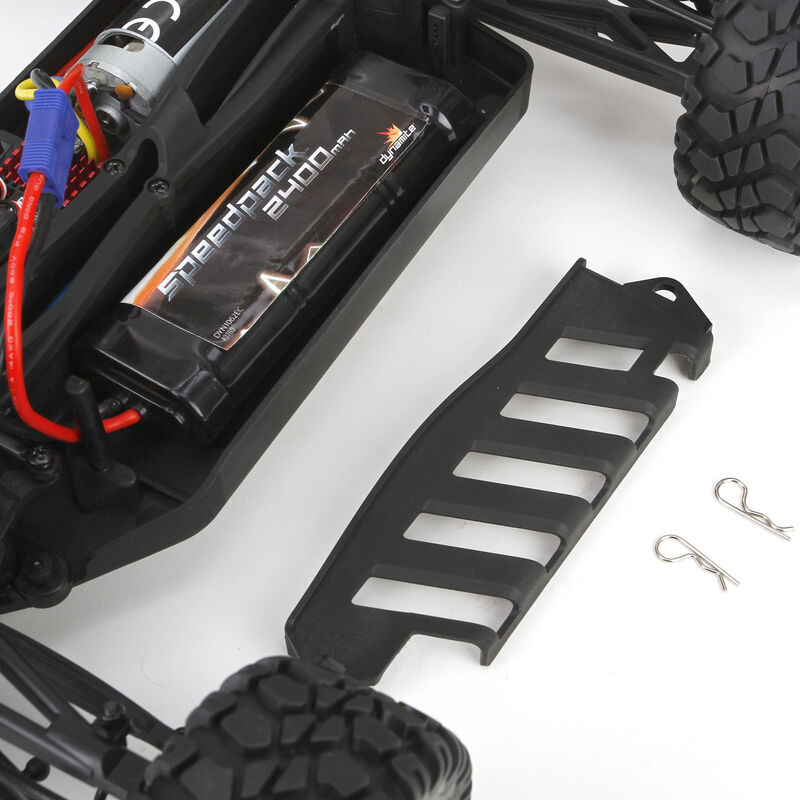 1/10 Circuit 4WD Stadium Truck Brushed RTR, Black/Orange